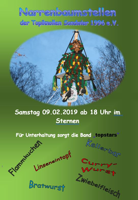 Narrenbaumstellen 2019